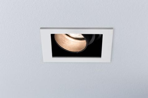 Paulmann Premium Einbauleuchte Daz eckig schwenkbar 1x5W LED Modul 230V Weiß m./Schwarz 926.82.1.LED - Vorschau 3