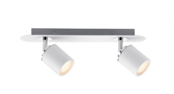 Paulmann 603.45 Spotlight Tube IP44 Balken 2x3, 5W GU10 Weiß/Chrom 230V Metall