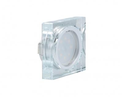 LED Einbauleuchte Quadro inkl. 5W 3000K 230V Modul flache Einbautiefe 35mm Klar/Glas