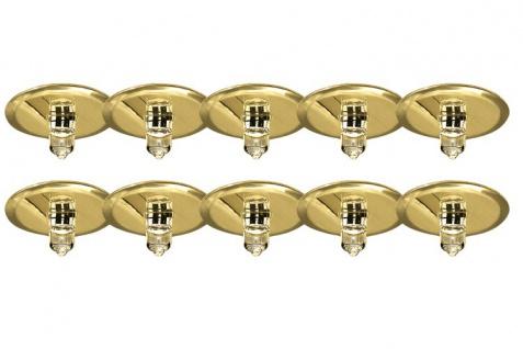 98581 Star EBL Set Sternenhimmel 10x10W 105VA 230/12V G4 40mm Gold/Metall