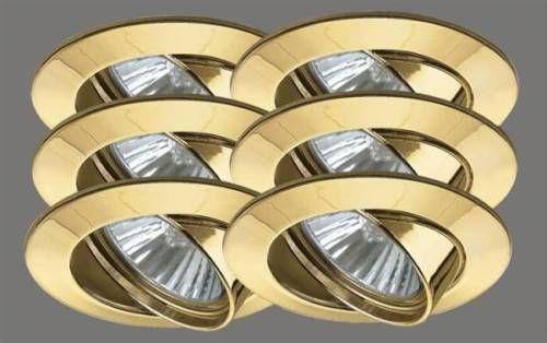 989.51 Paulmann Premium Line Einbauleuchten 6x50W Gold 98951