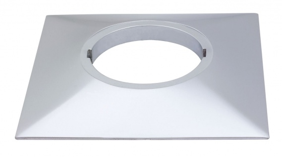 Paulmann 987.79 Profi Aufbauring rostfrei eckig UpDownlight LED 80mm Chrom matt/Alu Zink