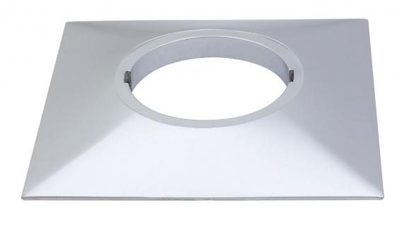 Paulmann Profi Aufbauring rostfrei eckig UpDownlight LED 80mm Chrom matt/Alu Zink