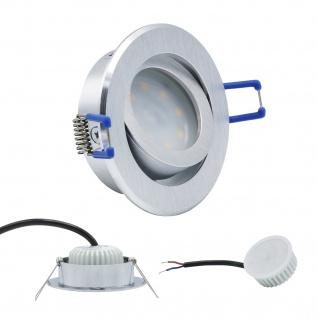 Einbauleuchte 5W 3000K Warmweiss 230V 400lm Alu gebürstet inkl. austauschbare LED Modul geringe Einbautiefe
