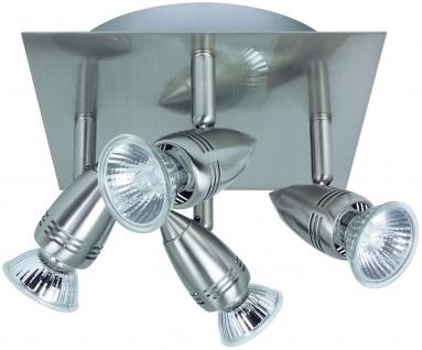 Nice Price 3655 Nice Price Spotlights B Rondell 4x50W GU10 Nickel satiniert 230V Metall
