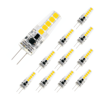 MILI 10er Set Leuchtmittel 1, 8W G4 4000K 12V 180lm klar
