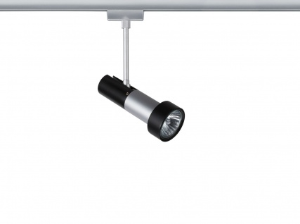 Paulmann 968.43 URail Schienensystem Light&Easy Spot Klingsor 1x50W GU10 Chrom matt/Schwarz 230V Metall