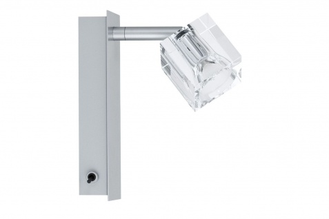 Paulmann 600.27 Spotlights IceCube Balken 1x35W GU4 Chrom matt 230/12V 60VA Metall/Glas