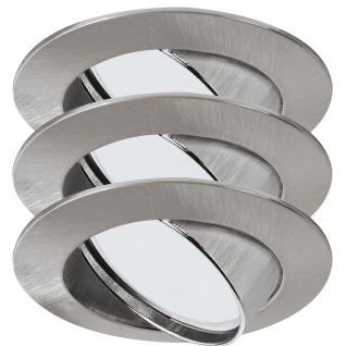 Paulmann 920.01 Premium Einbauleuchte Set Energiesparlampe schwenkbar 3x11W 230V GU10 51mm Eisen gebürstet/Alu