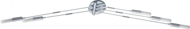 Paulmann Living Reed Deckenleuchte 5x10W E14 Chrom matt 230V Metall