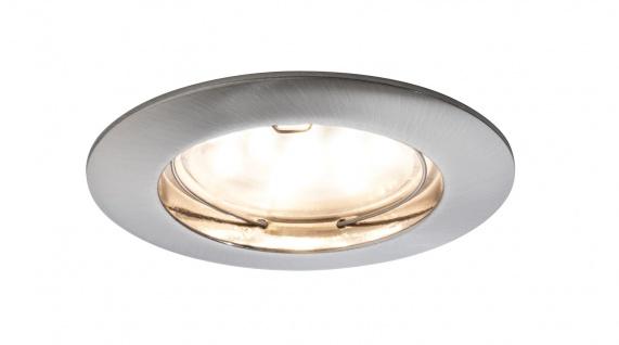 Paulmann Einbauleuchten LED Coin 3er 6er 9er Set 6, 8Watt 3cm Einbautiefe Eisen gebürstet
