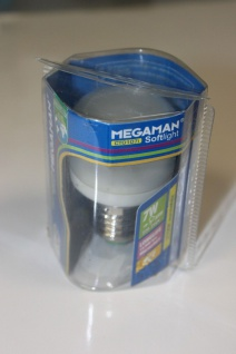 Megaman Energiesparlampe Sparlampe Softlight E27 7W flach 2700K - MM04012i