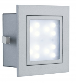 Paulmann 994.97 Special Einbauleuchte Set Wand LED Window 1 2W 230V 100mm Alu matt/Metall