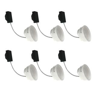 6er Set LED Modul 5W 3000K Warmweiss 230V 400lm inkl. austauschbare LED Modul geringe Einbautiefe