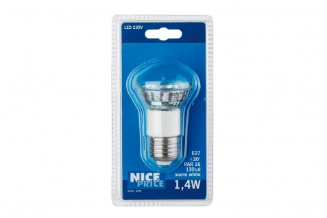 Nice Price LED Reflektor 1, 4W E27 Warmweiß