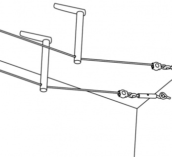 972.87 Paulmann Seil Zubehör Wire System Light&Easy Umlenker/Abhängung 1 Paar 85mm Chrom matt Metall - Vorschau 2