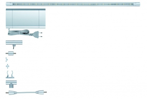 Paulmann 701.88 Function ModuLED Basis-Set 3x40cm 3x1, 8W LED Chrom matt 230V/12V Alu