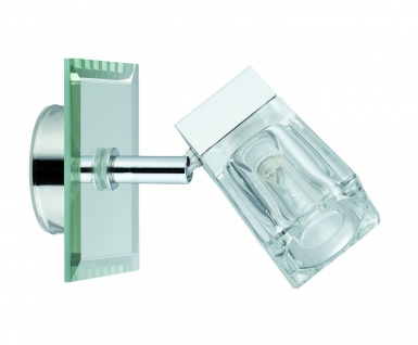 WallCeiling Trabani IP44 20W G9 Chrom/Transparent 230V Metall/Glas