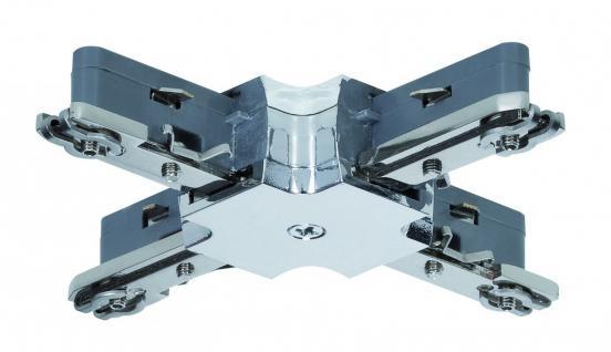 968.72 Paulmann U-Rail Einzelteile URail System Light&Easy X-Verbinder max.1000W Chrom 230V Metall/Kunststoff