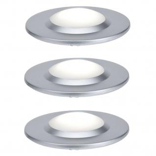 Paulmann 988.72 Special Einbauleuchte Set UpDownlight highpower LED 3x3W 230V/350mA 70mm Chrom matt/Kunststoff