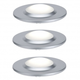 Paulmann Special Einbauleuchte Set UpDownlight highpower LED 3x3W 230V/350mA 70mm Chrom matt/Kunststoff