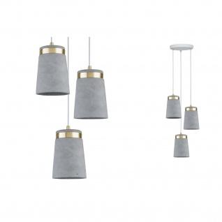 Paulmann Neordic Norell Pendelleuchte max 3x20W E27 Grau/Weiß matt/Gold Beton