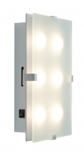 Paulmann 702.77 WallCeiling Xeta dimmbar IR Fernbedienung LED 15W 320x200mm Chrom matt 230V Metall/Glas