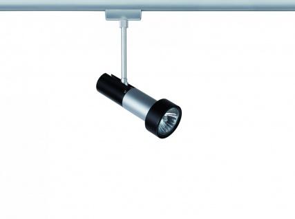 968.43 Paulmann U-Rail Einzelteile URail System Light&Easy Spot Klingsor 1x50W GU10 Chrom matt/Schwarz 230V Metall
