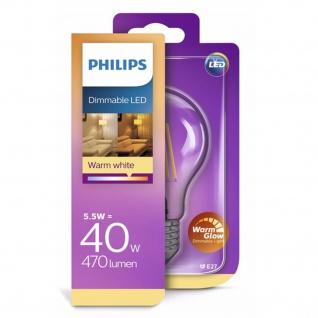 8718696709283 Philips LED Leuchtmittel warm weiss E27 LED Tropfen 5, 5W ~ 40W