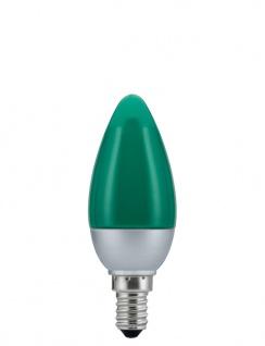 10 Stück 280.27 Paulmann E14 Fassung LED Kerze 0, 6W E14 Grün - Vorschau