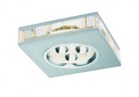 Paulmann Premium Einbauleuchte Liro eckig LED 1x3W 350mA 85x85mm Alu gebürstet/Klar