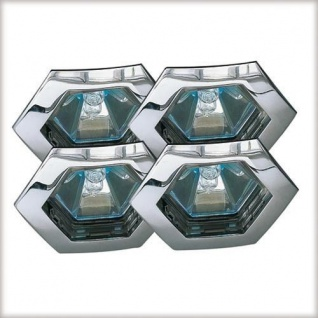 Paulmann Premium Einbauleuchte Set Hexa 4x35W 150VA 230/12V GU5, 3 79mm Chrom/Alu Zink