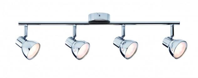 Spotlight Cup LED 4x4, 6W Chrom 230V Kunststoff