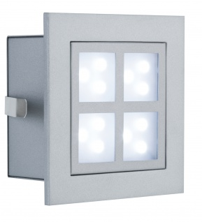 994.98 Paulmann Wand & Bodeneinbau Special EBL Set Wand LED Window 2 2W 230V 90mm Alu matt/Metall