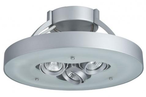 Paulmann WallCeiling Frisco DL max.40W T5 3x35W GU10 Chrom matt/Satin 230V Metall/Glas