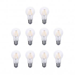 10er Pack 50610081001019 Ledarc 4038104152987 E27 LED Classic Leuchtmittel 8W = 60W 800lm 60mm Warmweiß Filament Klar