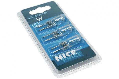 Nice Price Stiftsockel 3er Pack 3x50W GY6, 35 12V Klar