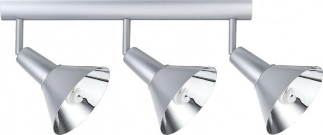 Paulmann 665.52 Spotlights Energy Energiesparlampe Balken 3x9W E14 Chrom matt 230V Metall