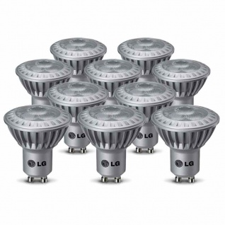 10 x LG LED Set GU10 4, 3W Leuchtmittel 230V Power LEDs