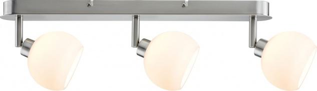 Paulmann 601.52 Spotlights Wolbi Balken 3x3W Eisen gebürstet/Weiß 230V Metall/Glas