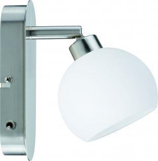 Paulmann 601.42 Spotlights Wolbi Balken 1x9W GZ10 Eisen gebürstet/Weiß 230V Metall/Glas