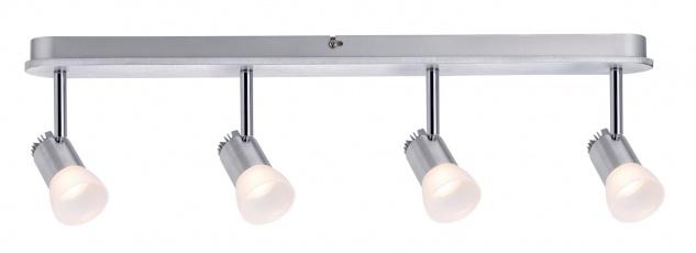 Paulmann 602.21 Spotlight Bariton Balken 4x3W Alu gebürstet 230V Metall