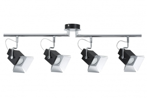 Paulmann 600.52 Spotlights Cinema Balken max.4x50W GU10 Schwarz matt 230V Metall