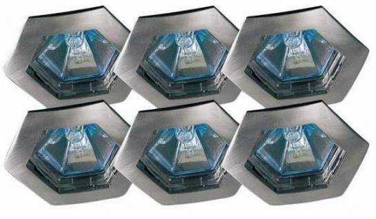 Paulmann Premium Einbauleuchte Set Hexa 6x35W 2x105VA 230/12V GU5, 3 79mm Eisen gebürstet/Alu Zink
