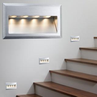 Paulmann Special Einbauleuchte Set Cross Wand LED 4W 6VA 230V 10x18cm Alu gebürstet/Alu