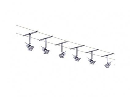 Paulmann Seilsystem Cumin 12V 6x35W Deko-Trafo 12meter System Komplett Set