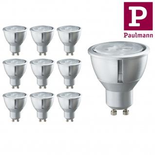 10er Pack Paulmann LED dimmbar 4W GU10 230V Warmweiß 25° 200Lumen