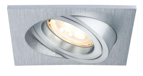 Paulmann 926.19 Premium Einbauleuchte Set Drilled Alu eckig schwenkbar LED 3x4W 230V GU10 51mm Alu gebürstet