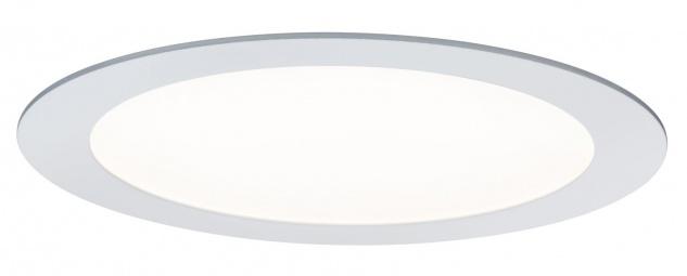 Paulmann 500.26 Premium Einbauleuchte Set SmartPanel RGBW rund LED 1x3, 5W 12VA 230V/350mA 220mm Weiß matt/A