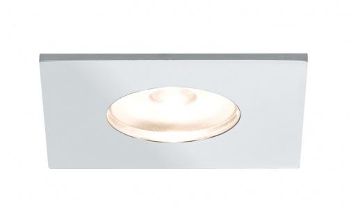 Paulmann Möbel Einbauleuchte Set Mini eckig LED 5x1W 2700K 6VA 230V/350mA 35x35mm Chrom Alu